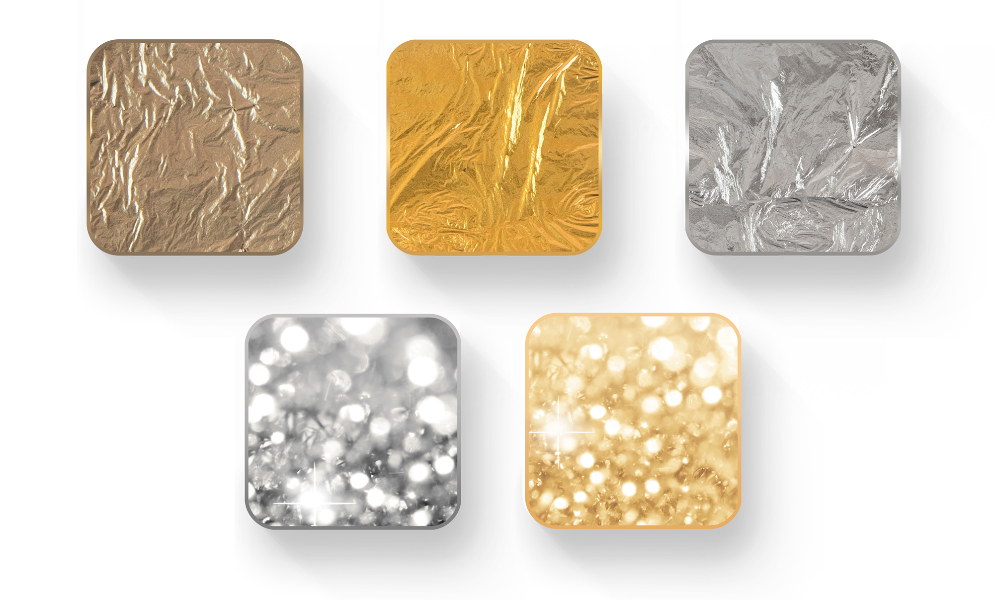 Decorative additives (a choice of metal and sheen)